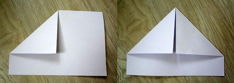 как сделать кораблик из бумаги №2