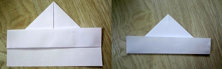 как сделать кораблик из бумаги №3