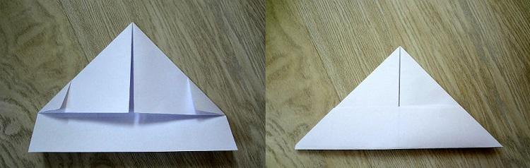 как сделать кораблик из бумаги №4