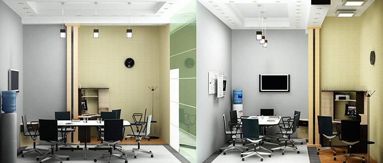 как расставить мебель в маленьком офисе №2