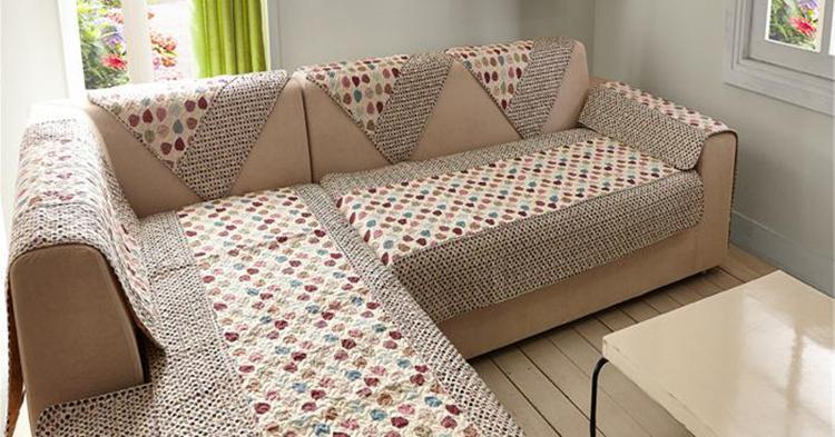 как выбрать плед на угловой диван