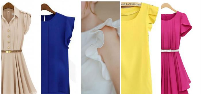 виды коротких рукавов для платья №3