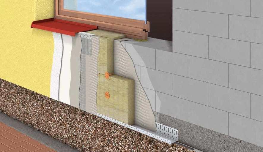 Отделка окон по фасаду плиткой