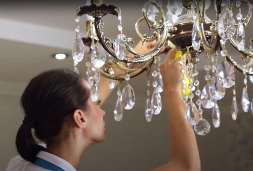 очистка люстры домашними средствами